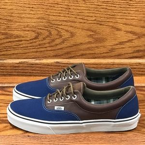 5fe094e052 Vans Shoes - Vans Era Leather Plaid Estate Blue Potting Soil